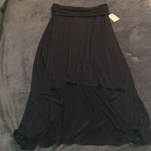 Michael Kors high low skirt tall petite large navy